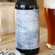 Lisa Angel Printed Personalsed Wreath Bottle of Malt Coast Amber Ale with Pint Glass