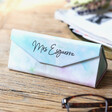 Lisa Angel Personalised Pastel Watercolour Foldable Teachers Glasses Case
