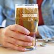 Men's Engraved 'Bright Cider Life' Pint Glass