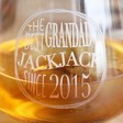 Personalised 'Best Grandad' Whiskey Glass