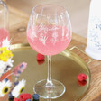 Lisa Angel Personalised Engraved Wildflower Cocktail Glass