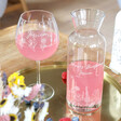 Lisa Angel Carafe and Personalised Engraved Wildflower Cocktail Glass