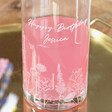 Lisa Angel with Floral Personalised Engraved Wildflower Glass Wine Carafe