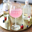 Women's Personalised 'Favourite Things' Gin Goblet
