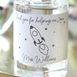 Personalised 'Thank You' Teacher 10cl Bottle of Granite North Gin