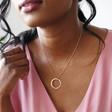 Lisa Angel Handmade Personalised Sterling Silver Eternity Hoop Necklace