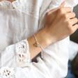Personalised Star Charms Bracelet on Model