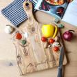 Lisa Angel Engraved Personalised Olive Wood Serving Board