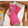 Lisa Angel Ladies' Powder Avocado Ankle Socks