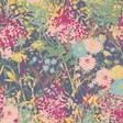 Ladies' Powder Cottage Garden Print Scarf
