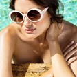 Lisa Angel Powder Design Callie Sunglasses on Model
