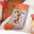Lisa Angel with Soft Powder Floral Koala Ankle Socks
