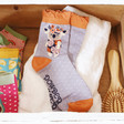 Lisa Angel with Ladies' Powder Floral Koala Ankle Socks