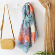 Lisa Angel with Ladies' Powder Tropical Birds Print Scarf