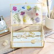 Lisa Angel with Ladies' Sass & Belle Flower Print Glass Jewellery Box
