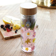 Lisa Angel Ladies' Sass & Belle Pressed Flowers Glass Water Bottle with Infuser