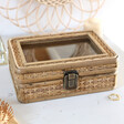 Sass & Belle Rattan Jewellery Box