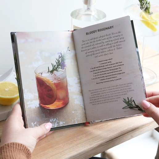 Floral Cocktails Recipe Book Alcohol Gifts Lisa Angel
