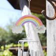 Lisa Angel Colourful Glittery Rainbow Windchime