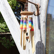 Lisa Angel Colourful Rainbow Wrapped Bamboo Wind Chime