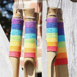 Lisa Angel Rainbow Wrapped Bamboo Wind Chime