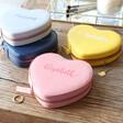 Lisa Angel Vegan Leather Personalised Heart Travel Jewellery Cases