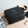Lisa Angel Men's Personalised Lobster Black Travel Jewellery Box