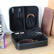 Inside Men's Personalised 'Your Photo' Black Accessories Travel Box