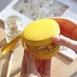 Lisa Angel Mini Round Travel Jewellery Case in Matte Yellow