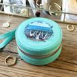 Lisa Angel Turquoise Personalised 'Your Photo' Mini Round Travel Jewellery Case