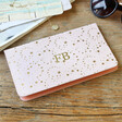 Lisa Angel Pink Personalised Initials Slim Travel Wallet