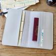 Inside of Lisa Angel Grey Personalised Initials Slim Travel Wallet