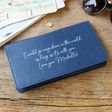 Lisa Angel Ladies' Personalised Slim Travel Wallet in Navy