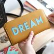 Lisa Angel Ladies' Large Zip Around 'Dream' Wallet in Mustard Yellow