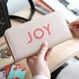 Lisa Angel Ladies' Large Zip Around 'Joy' Wallet in Pink