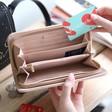 Inside of Teens' Large Zip Around 'Joy' Wallet in Pink