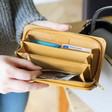 Inside of Teens' Large Zip Around 'Dream' Wallet in Mustard Yellow