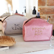 Lisa Angel Ladies' Personalised Embroidered Message Velvet Box Make Up Bags