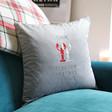 Lisa Angel Personalised Lobsters Square Velvet Cushion