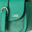 Lisa Angel Ladies' Green Personalised Vegan Leather Crossbody Handbag