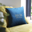 Lisa Angel Personalised 'Mum Est.' Square Velvet Cushion