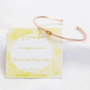 Organic Style Birthstone Bangle - November