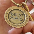 Father's Day Personalised 'Best Dad' Antiqued Gold Keyring