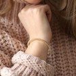 Dotted Ball Bangle in Gold on Model