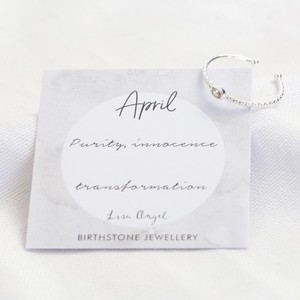 Organic Style Birthstone Ring - April