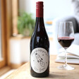 Personalised 'Thank You For Helping Me Zoom' Teacher Bottle of Red Wine