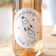 Personalised 'Thank You For Helping Me Zoom' Teacher Teacher Bottle of Rose Wine