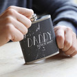 Men's Personalised Stainless Steel 'Daddy Since' Hip Flask