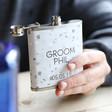 Ladies' Personalised Stainless Steel 'Groom' Hip Flask
