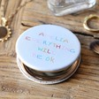 Lisa Angel Personalised 'Everything Will Be OK' Grey Compact Mirror